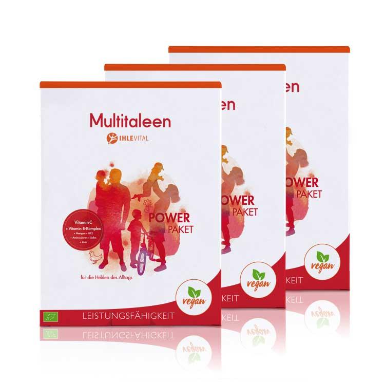 Multitaleen, Ihlevital, basisch, Bio, Säure Basen Kur, Immunsystem stärken, B Vitamine, Aminosären, B12, Mangan, Zink, Selen, Inulin, Produktbild