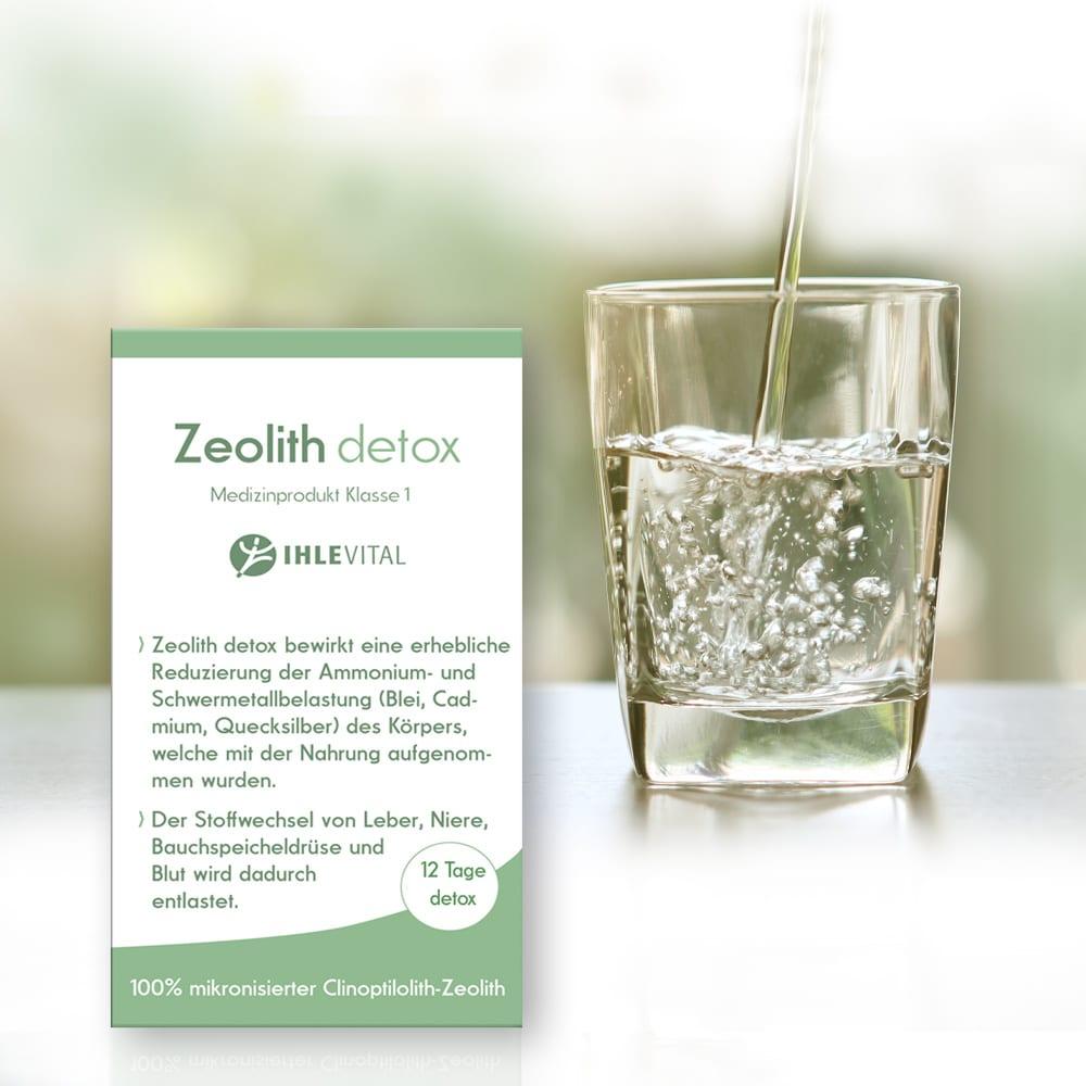 Zeolith, detox, Wasser, Entgiften