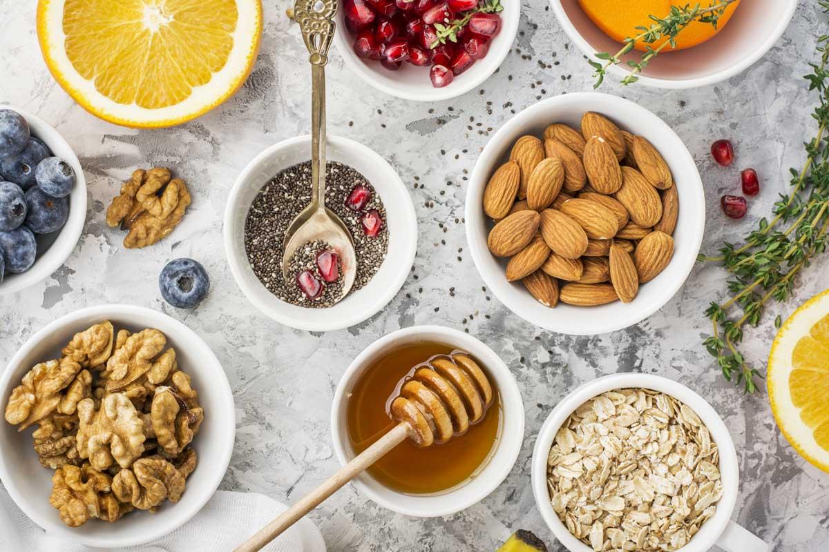 Basisch frühstücken, basisches Porridge + Basen Müsli selbstgemacht