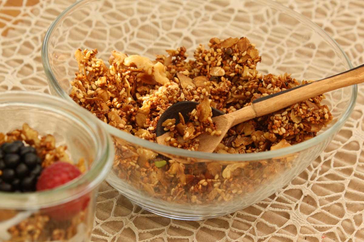 Basen Müsli knuspig – Granola basisch selbstgemacht