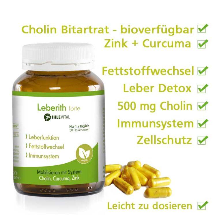 Cholin, Fettstoffwechsel, Körper entgiften, Leber entgiften, Zellschutz