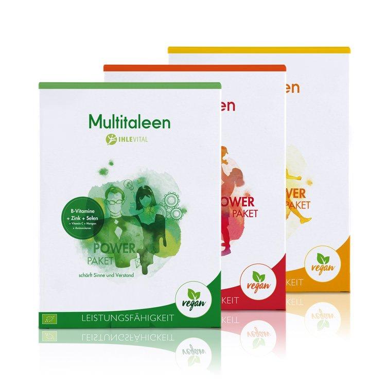 Multitaleen, Ihlevital, basisch, Bio, Säure Basen Kur, Immunsystem, B Vitamine, Aminosären, B12, Mangan, Zink, Selen, Inulin, Produktbild