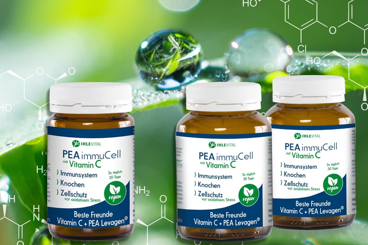 PEA Palmitoylethanolamid 60 Kapseln, 90 Kapseln oder 120 Kapseln mit 400 mg reines PEA