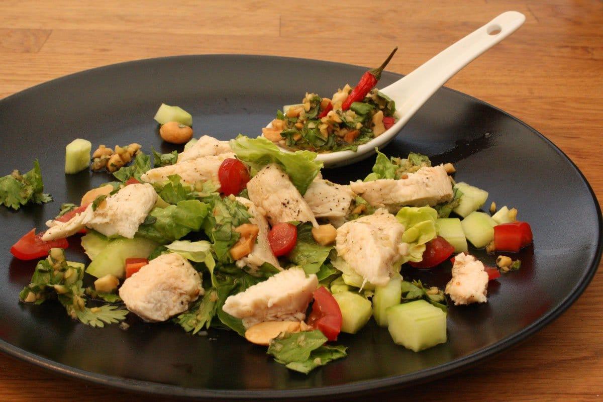 Thai Salat mit Huhn